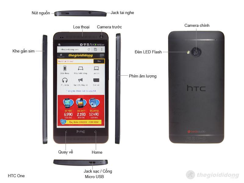 HTC One (HTC M7) 16GB Black (Ảnh 2)