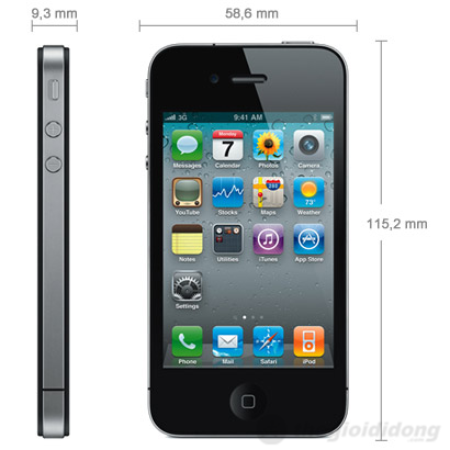 Apple iPhone 4S 32GB Black (Lock Version) (Ảnh 1)