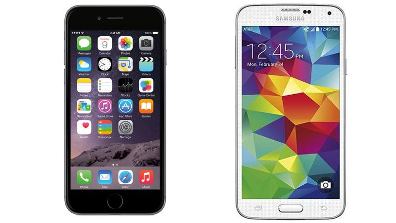 Galaxy S5 với iPhone 6...