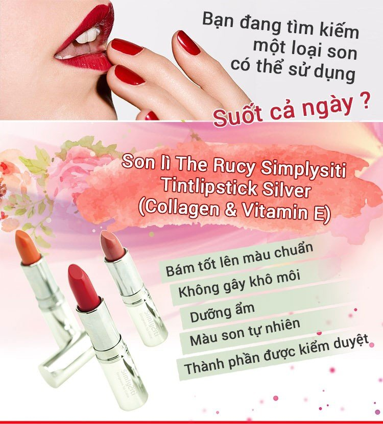 Son lì dưỡng môi The Rucy Simplysiti Tintlipstick Silver 04 Honey Orange (Ảnh 1)