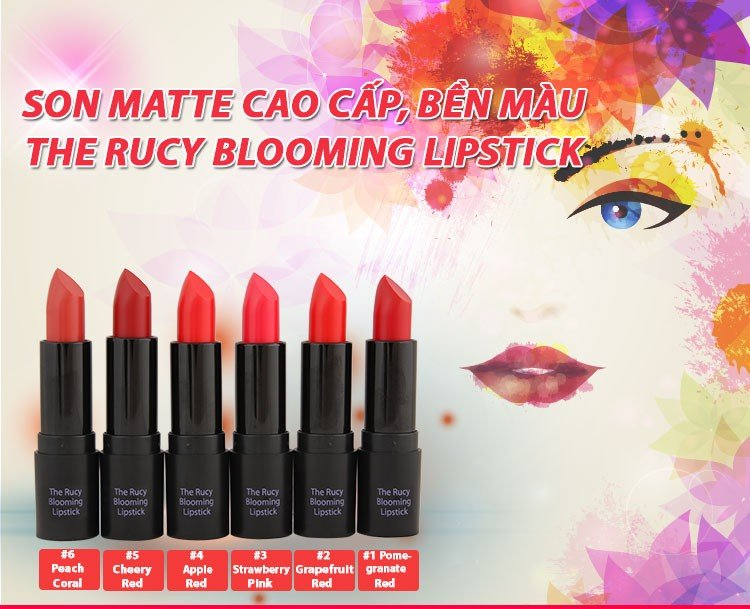 Son Matte The Rucy Blooming Lipstick Cherry Red (Ảnh 1)