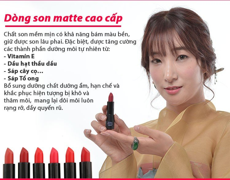 Son Matte The Rucy Blooming Lipstick Cherry Red (Ảnh 2)