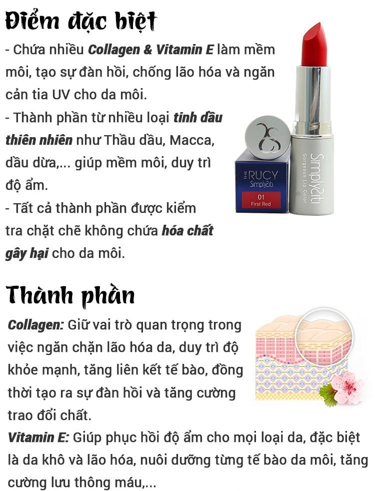 Son lì dưỡng môi The Rucy Simplysiti Tintlipstick Silver 04 Honey Orange (Ảnh 4)