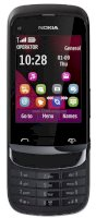 Nokia C2-02 (Nokia C2-02 Touch and Type) Chrome Black